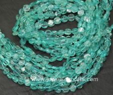 "4 Strands Lot Green Apatite Smooth Round Coin Gemstone Loose Bead Strand 14"" 4mm"