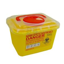 5L Sharps Container Bin Needles Biohazard Infectious Medical Tattoo Piercing