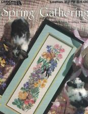 Spring Gathering Bunnies Rabbits & Flowers Leisure Arts 2378 Cross Stitch