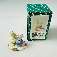 Fitz & Floyd Holiday Hamlet Figurine 19/734 Dr. Quack & Patient ~ Mint in Box