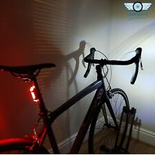 LED Bike Lights for All Bicycles, USB Rechargeable, Red + White, Road & MTB