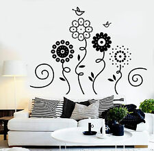 Vinyl Wall Decal Flowers Garden Birds Nature Art Nursery Decor Stickers 1238ig