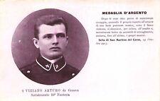 3741) WW1, VIZIANO ARTURO DA GENOVA 10 FANTERIA, MEDAGLIA D'ARGENTO AL V.M.