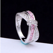 6 colors white gold Filled wedding Ring jewelry women fashion gift cute size6-10
