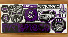 FIT BIKE CO STICKER DECAL SHEET BMX BIKES STICKERS DECALS
