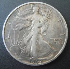 1942 S Walking Liberty Silver Half Dollar, Low Mintage coin (42SUE2)