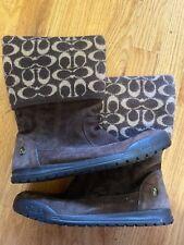 Coach Brown Boots Size 8.5 Excellent Condition