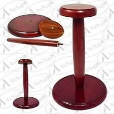 Wood Helmet Stand For Medieval Armor Helmets Cherry Stained Wooden Display Post
