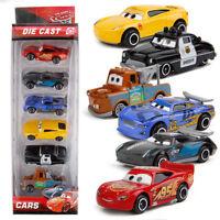6pcs Disney Pixar Cars Lighting McQueen Mater Diecast Collectible Kid Cars Toy