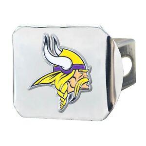 Fanmats NFL Minnesota Vikings 3D Color on Chrome Metal Hitch Cover Del. 2-4 Days