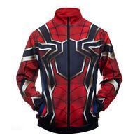 Avengers Endgame 3D Print Spiderman Superhero Sweatshirt Cosplay Zip Jacket Coat
