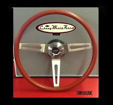 "CAMARO CHEVELLE NOVA 3 SPOKE COMFORT GRIP 15"" STEERING WHEEL KIT RED"