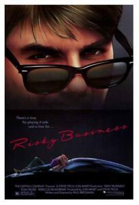Risky Business Movie POSTER 27 x 40 Tom Cruise, Rebecca DeMornay, A