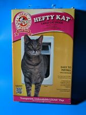 Open Box Ideal Pet Hefty Kat Fat Large Cat Interior Exterior Lockable Door Flap