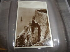 Eastbourne  Beachy Head & Lighthouse    B/W PHOTOGRAPH VINTAGE POSTCARD EX  COND