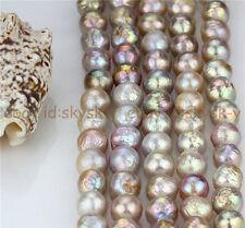 Natural Rare AAA 14-16mm Huge Multicolor Baroque Pearl Loose Bead 15''