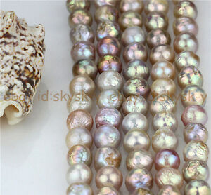 Natural Rare AAA 14-16mm Huge Multicolor Baroque Pearl Loose Beads 15''