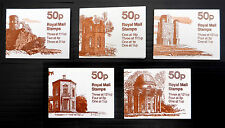 Gb Machin 50p Follies Booklets 5 Different Cat Over £20 See Below Fp7324