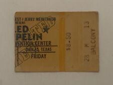 LED ZEPPELIN ORIGINAL April 1, 1977 Dallas Convention Center Concert Ticket Stub