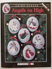 Vintage Angels On Hight Cross Stitch Pattern Leaflet Dimensions Lot85