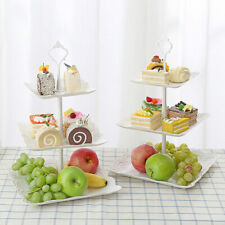 3 Layer PP Fruit Tray Cake Stand Vegetable Storage Rack Dessert Candy Plate