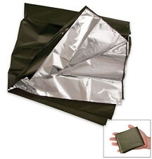 GI Army Military Lightweight Casualty OD Silver Survival 52x84 Combat Blanket