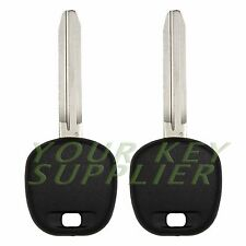 2 New Transponder Ignition Chip Car Key Uncut for Toyota Camry Rav4 Corolla