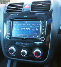 5D Gloss Carbon Fibre effect dash surround + air vents to fit VW Golf Mk5 Jetta