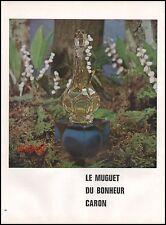 Publicité Parfum Caron  perfume  vintage  ad  1962 -9i