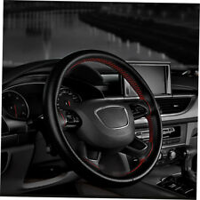 Auto Car Steering Wheel Cover With Needles And Thread Leather Car Covers LQ