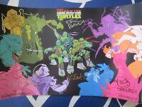 Teenage Mutant Ninja Turtles TMNT cast signed 2017 SDCC poster Eastman Paulsen