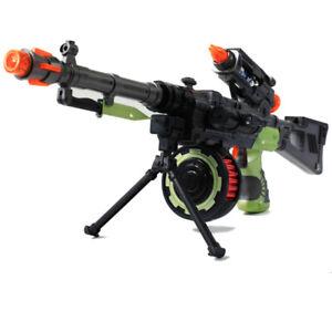 Combat Toy Tommy Gun Plastic Police Army Machine Children War With Sound & Light