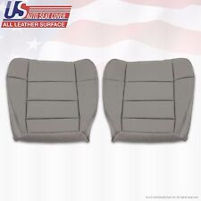 2003 Ford F-150 Lariat Super Crew Driver-Passenger Bottom Leather Covers GRAY