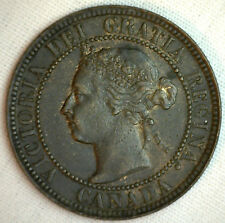 1901 Copper Canadian Large Cent Coin 1-Cent Canada XF #6