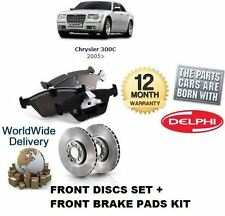 Para Chrysler 300c CRD 3.0 3.5 5,7 2005 - & gt Freno Delantero Discos Set + Almohadillas De Disco Kit