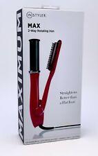 "InStyler MAX 1.25"" 2-Way Rotating Iron Tourmaline Ceramic Straightener Pink Seal"