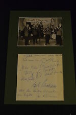 FRED BUNGE (+1960) signed Original Autogramm 20x30 In Person Passepartout JAZZ