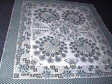 1/2 Schönes Tuch Tagesdecke Bettüberwurf Tischdecke Baumwolle 205x175 grün-weiß