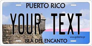 Puerto Rico Flag  Lo\u00edza License Plate Boricua Emblem Isla Del Encanto Black Version
