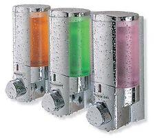 AVIVA SOAP SHAMPOO TUB BATH SHOWER Quality DISPENSER Triple 3 CHAMBERS
