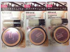 ( LOT OF 3 ) Maybelline Mineral Power Illuminator  Powder Peach #625 NEW.
