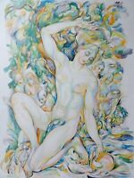 AN DER QUELLE - Kunstdruck nach Arthur Michaelis -
