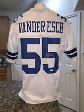 Leighton Vanderesch Cowboys Autographed White Football Jersey JSA