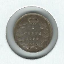 Canada 5 cents 1899 VF