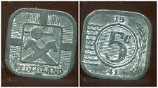 PAYS BAS 5 cents 1941   ZINC