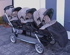 PEG PEREGO TRIPLETTE  PRAM STROLLER BABIES MADE IN ITALY BLACK GREEN RARE AS NEW
