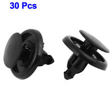 30 x 7mm Hole Dia Plastic Rivets Fastener Push Clips Black for Car Auto Fender