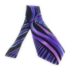 VITALIANO PANCALDI Tie Multicolor Abstract Black Purple Italian Necktie MINT
