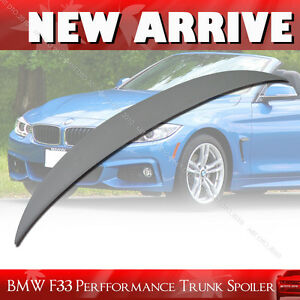 Painted Fit For BMW F33 420i 428i P-Type Rear Trunk Spoiler Wing
