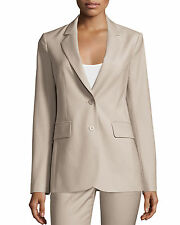 NWT Theory Aaren Contour Wool-Twill Blazer Jacket GreyKhaki (Beige) Size 10 $445